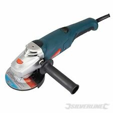 "Silverline Angle Grinder 115mm 800W 240V 4 /12"" Grinding Discs 800 Watts 563709"