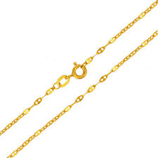 Pure 18K Yellow Gold 1.8 mm Anchor Link Chain Necklace 40cm Length