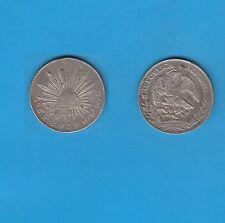 Mexique   8 Réales  argent 1887 Mexico   Silver Coin