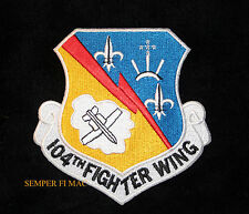 104TH FIGHTER WING HAT PATCH US AIR FORCE AFB BARNES ANG PIN UP F15 EAGLE GIFT