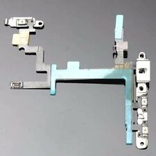 For iphone 5 Power/Lock Volume & Mute Button Flex Cable ON OFF New with Brackets
