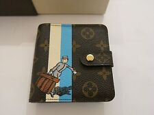 AUTHENTIC LOUIS VUITTON LV LIMITED EDITION BELL HOP COMPACT ZIPPED WALLET UNISEX