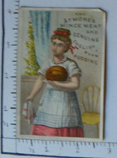 ATMORE'S MINCE MEAT ENGLISH PLUM PUDDING WOMAN IN APRON IN KITCHEN 1542