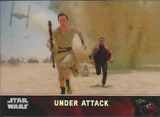 Under Attack 2015 Topps Chrome Star Wars Force Awakens refractor card