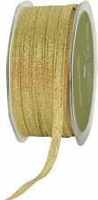 May Arts 1/4 Inch Metallic Gold Ribbon - Sold in 4 Metre Lengths
