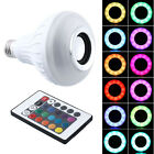New Bluetooth Control Smart Speaker Bulb E27 LED RGB Lamp Light