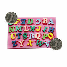 Silicone Alphabet Letters Fondant Sugarcraft Cake Mold Chocolate Baking Mold DIY