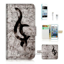 iPod Touch iTouch 5 Print Flip Wallet Case Cover! Music Sign P0142