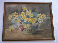 FRAMED WATERCOLOUR PAINTING by JOHN EYRE R.B.A. R.I. 1850-1927 STUDY OF FLOWERS