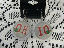 "1"" Bottle Cap Image Earrings ~ Handcrafted ~ **Gift Idea ~ Buckeyes"