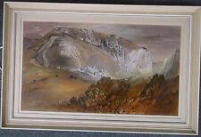 Encadré aquarelle par ernest greenwood arca 1913-2009 auvergne village