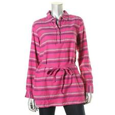 Tommy Hilfiger 8098 Womens Pink Striped Long Sleeves Tunic Top L BHFO