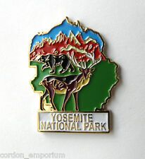 UNITED STATES YOSEMITE NATIONAL PARK MAP PIN BADGE 1 INCH