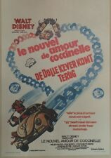 """""""LE NOUVEL AMOUR DE COCCINELLE (HERBIE RIDES AGAIN)""""Affiche entoilée Walt DISNEY"""