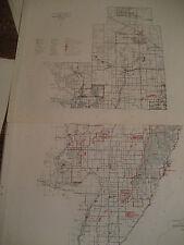 Vtg. 1961 MENOMINEE County MI Michigan  / 2part CONSERVATION DNR MAP