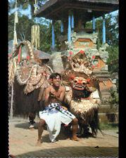 INDONESIE / DANSEUR TRADITIONNEL & COSTUME avec MASQUE en 1978
