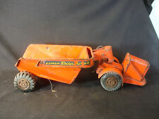 Old Vtg Pressed Steel Marx Lumar Rocker Dump Toy Construction Truck