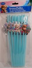 Party Straws DISNEY FROZEN Princesses Elsa Anna Olaf Birthday Supplies 18 Pack