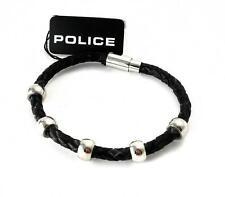 Police Uomo in Pelle Bracciale nastro intrecciato acciaio inox Global pj.23543blb.01.19