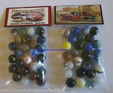 2 BAGS OF FIREFIGHTERS PROUD STRONG BRAVE ADVERTISING PROMO MARBLES