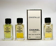 CHANEL Collection 3 mini perfume; eau de toilette chanel 5, cristalle, chanel 19