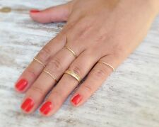 14k Yellow Gold Plated Knuckle 10 Rings Sz ,5,6,7,8,9 STACKING