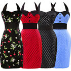 Retro 1950's Polka Dots Vintage Pencil Wiggle Prom Party Dress Pin Up