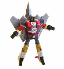 """TRANSFORMERS G1 Universe deluxe SILVERBOLT JET 10"""" toy robot jet figure NICE"""