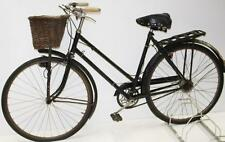 VINTAGE BLACK RALEIGH SPORT  LADIES TOWN BICYCLE w/ BASKET