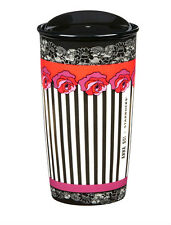 LIMITED EDITION ANNA SUI Starbucks Rose Stripe Double Wall Traveler/12FL OZ