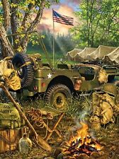 Jigsaw puzzle Military Army Making Camp 1000 piece NEW
