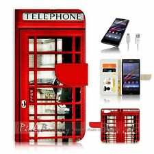 SONY Xperia ( Z5 Compact ) Flip Wallet Case Cover P0096 British phone Booth