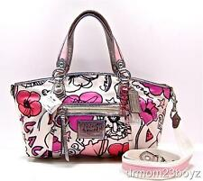 New NWT Coach Poppy Signature Petal Floral Pink Rocker Shoulder Purse 16308