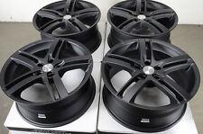 18 5x112 Wheels Matte Black Fits Audi Tt Tts A6 Volkswagen Cc Mercedes Benz Rims