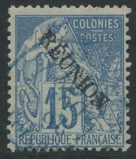 "REUNION N°22a Variété ""E"" avec accent, Cote : 135€,  France Colony (error)"