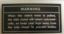 KAWASAKI KE125 KE175 KH125 WARNING CAUTION WARNING DECAL