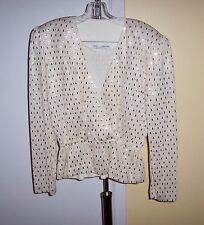 ST JOHN by MARIE GRAY Gold Lame w/ Pailettes Knit  Evening 2 pc Skirt Suit