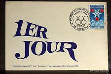 Yt 1520 GRENOBLE 1967 Premier Jour Carte Postale Maximum