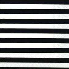 Marimekko TASARAITA black white stripe luxury napkins paper napkins new 20 pack