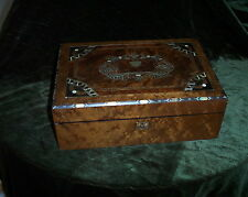 "LAP  DESK  ENGLISH WALNUT MOTHER OF PEARL INLAY. 15""X 10"""