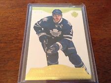 13-14 2013-14 DOMINION DION PHANEUF GOLD BASE CARD /50 91 TORONTO MAPLE LEAFS