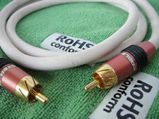 Audio Interconnects Bass Subwoofer RCA Male to RCA Male Gold-Plated 400 Cable 1m