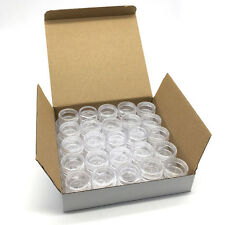 50 Pieces Clear Plastic Cosmetic Sample Container 5 Grams Jars Pot Small Empty ]