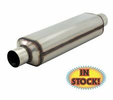 """Flowmaster 12418304 Super HP-2 Muffler 2.25"""" In / Out 18"""" Overall 304 Stainless"""