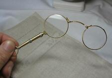 French Lorgnette Opera Glasses Necklace 18K Gold Enamel Belle Epoque Victorian