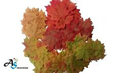1000 Pcs Artificial Fall Silk Leaves Wedding Favor Autumn Maple Leaf Decorations