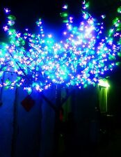 6.5ft LED Christmas Tree Light 1,152 LEDs Pink Cherry Flower+Green Leaf Outdoors