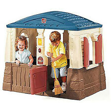 Step 2 Kids Outdoor Playhouse Naturally Playful Neat And Tidy Cottage