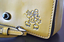 Coach Disney Mickey Dinky Crossbody Bag leather Yellow Handbag GIFT BOX penny