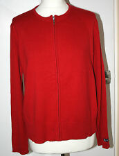 Maine UK16 EU44 US12 new red long-sleeved zip-up cotton cardigan